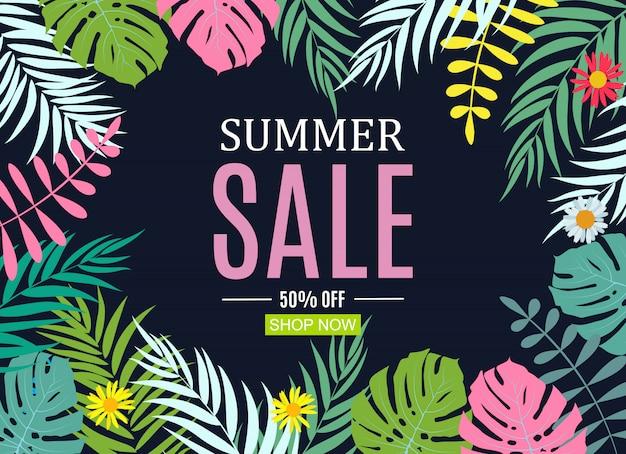 Abstracte zomer verkoop banner