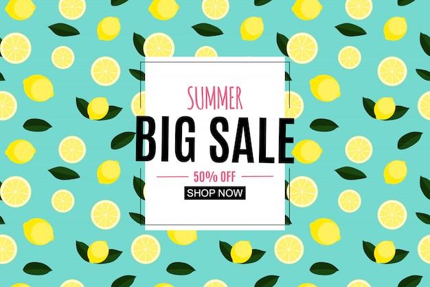 Abstracte zomer verkoop met citroen.