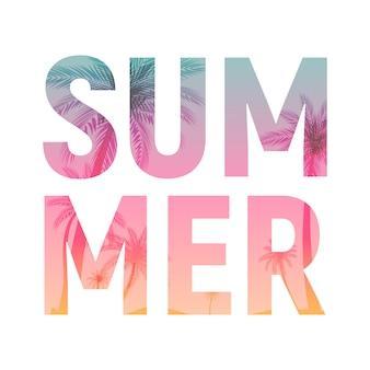 Abstracte zomer word op wit. illustratie