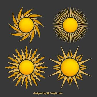 Abstracte zonnen