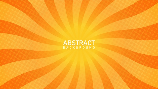 Abstracte zonnestraalachtergrond met oranje kleur