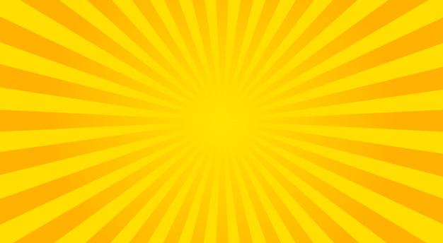 Abstracte zonnestralen achtergrond - vectorillustratie.