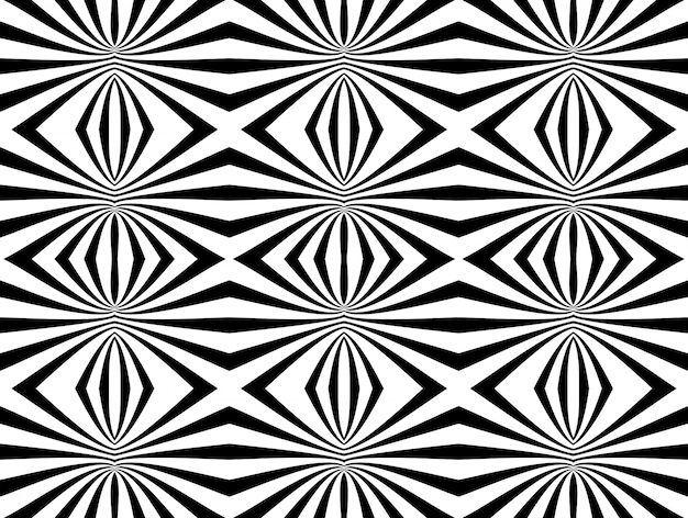 Abstracte zwart-wit geometrische naadloze patroon achtergrond. vector illustratie
