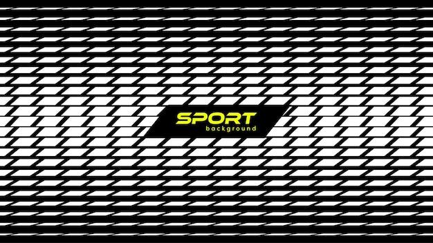 Abstracte zwart-wit moderne sport achtergrond rechthoek patroon vectorillustratie