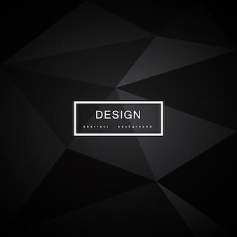 Abstracte zwarte achtergrond met driehoeken