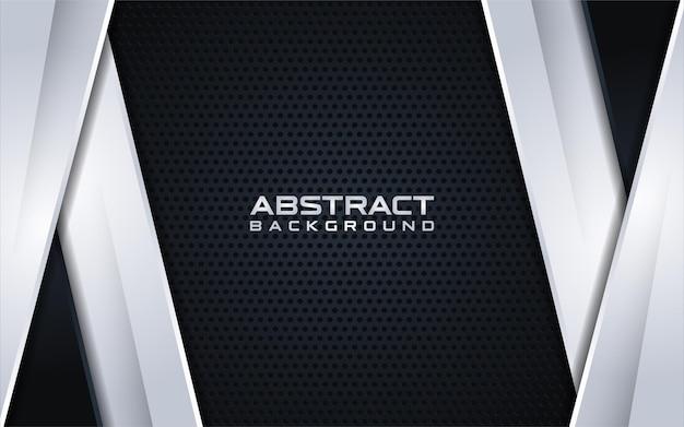 Abstracte zwarte achtergrond met zilveren verloop