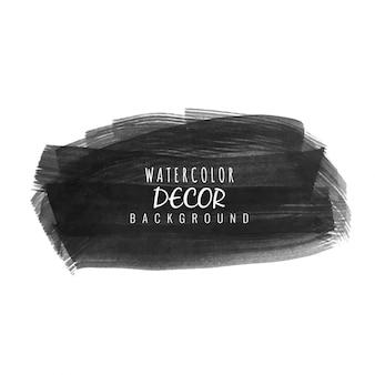 Abstracte zwarte aquarel vlek ontwerp achtergrond