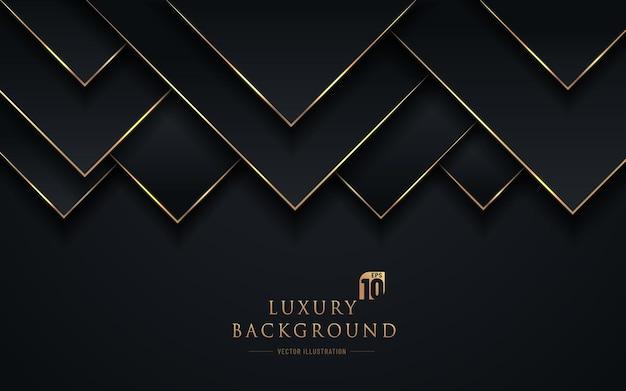 Abstracte zwarte en gouden driehoek donkere achtergrond
