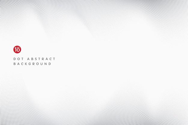 Abstracte zwarte en grijze golvende stip lijnpatroon op witte achtergrond met kopie ruimte