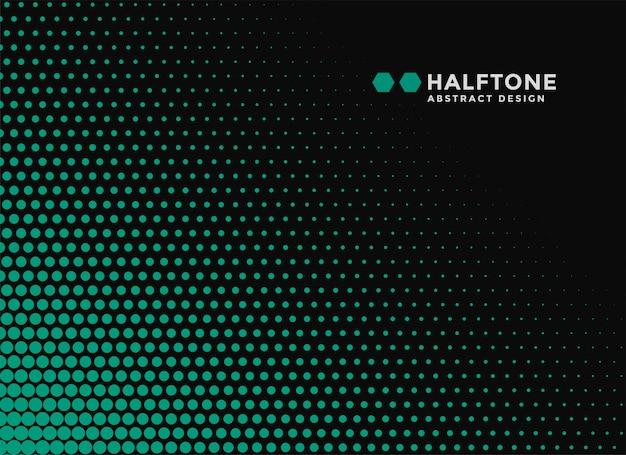 Abstracte zwarte en groene halftone banner