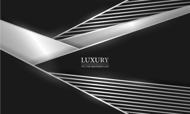 Abstracte zwarte en zilveren lijnen en vormen luxe achtergrond