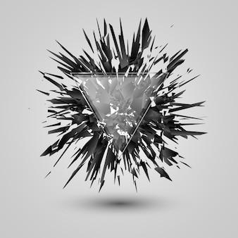 Abstracte zwarte explosie.