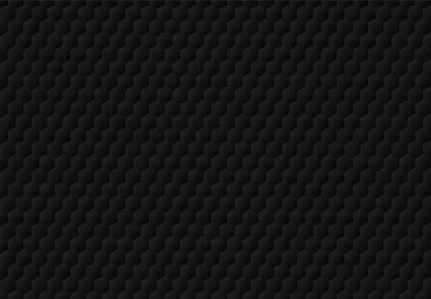 Abstracte zwarte hexagon in reliëf gemaakte patroon donkere achtergrond