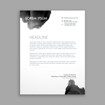 Abstracte zwarte inkt briefpapier