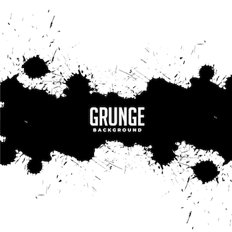 Abstracte zwarte inkt splatter druppels effect grunge achtergrond