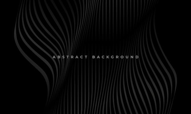 Abstracte zwarte lijn golf luxe achtergrond