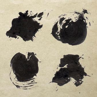 Abstracte zwarte penseelstreek instellen vector