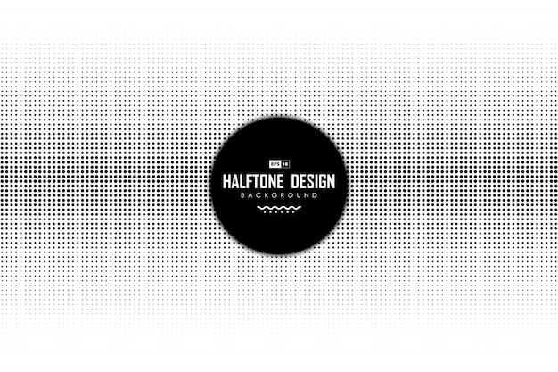 Abstracte zwarte punt halftone decoratie op witte achtergrond.