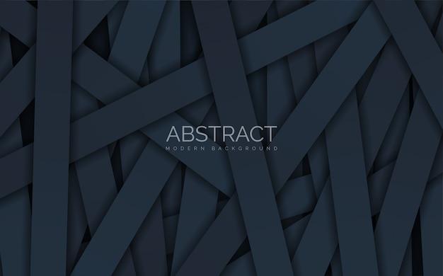 Abstracte zwarte rechthoekige stapels.