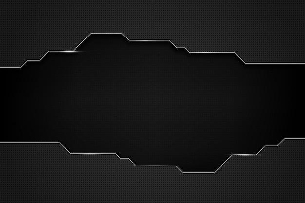 Abstracte zwarte technische achtergrond