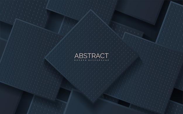 Abstracte zwarte vierkante vormstapels.