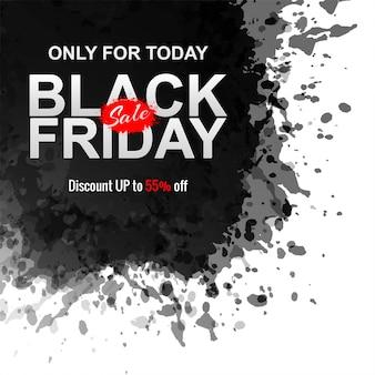 Abstracte zwarte vrijdag inkt splash banner