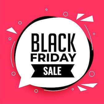 Abstracte zwarte vrijdag verkoop achtergrond met tekstballon