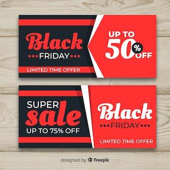 Abstracte zwarte vrijdag verkoop banner set