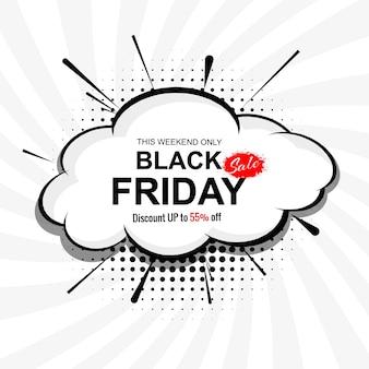 Abstracte zwarte vrijdag verkoop concept