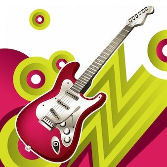 Abstractie met elektrische gitaar