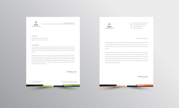 Abtract briefhoofd ontwerp modern zakelijk briefhoofd