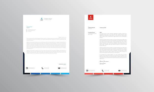 Abtract briefhoofd ontwerp moderne zakelijke briefhoofd ontwerpsjabloon - vector