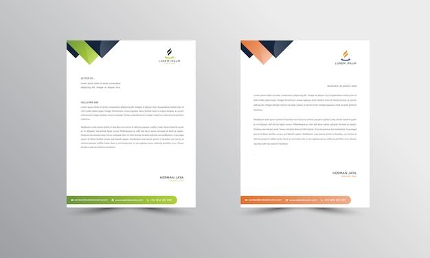 Abtract briefhoofd ontwerpsjabloon voor moderne zakelijke briefpapier