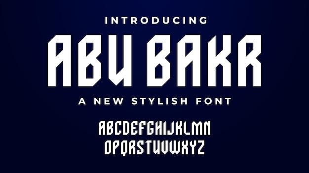 Abu bakr-lettertype