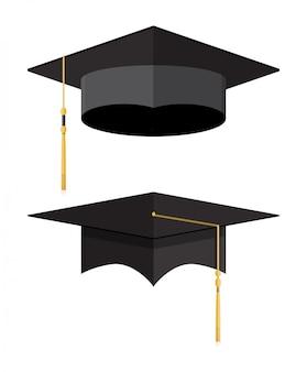 Academische afstudeerpet. student hoed