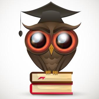 Academische owl vector