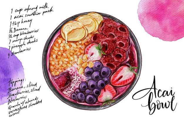 Acai bowl recept concept