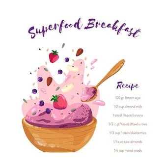 Acai kom recept met aardbeien