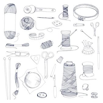 Accessoires voor breien en naaien.