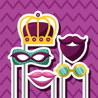 Accessoires voor carnavalfestivals