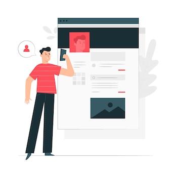 Account concept illustratie
