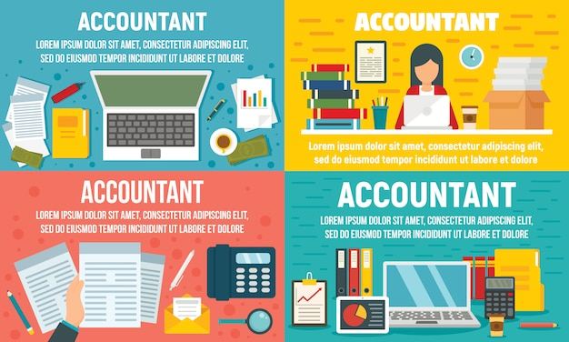 Accountant banner set