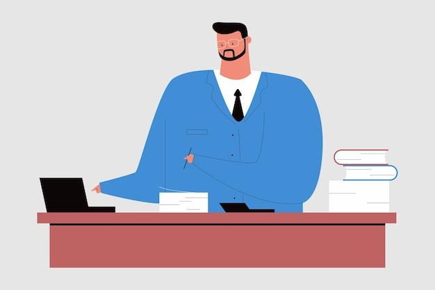 Accountant cartoon karakter illustratie