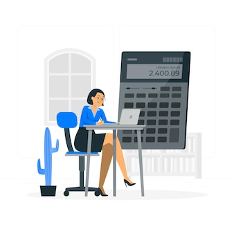 Accountant concept illustratie Gratis Vector