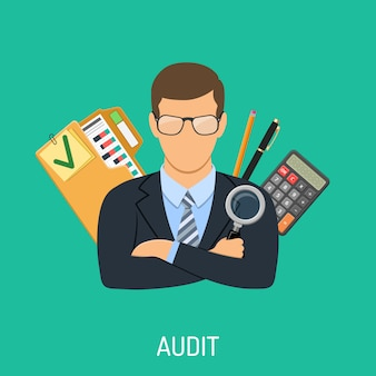 Accountant en boekhoudconcept