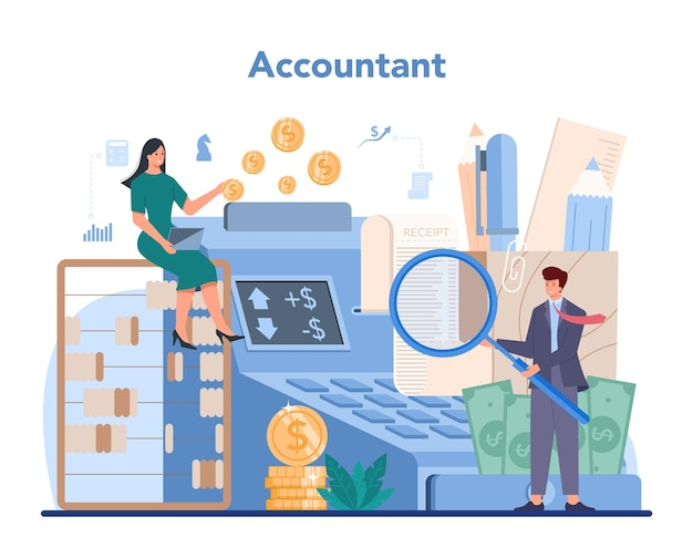 Accountant office manager illustratie