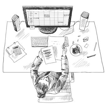 Accountant werkplek
