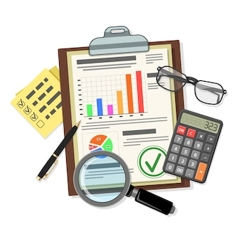 Accountantscontrole, fiscaal proces, boekhoudconcept