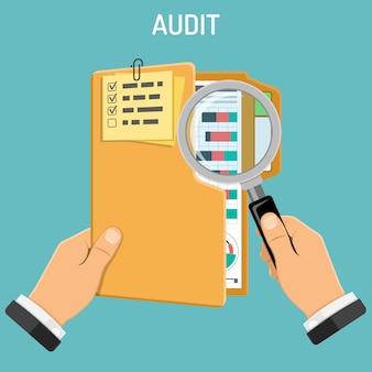 Accountantscontrole, fiscaal proces, boekhoudconcept