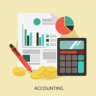 Accounting achtergrond ontwerp